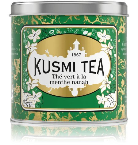KUSMI Tea Paris - Spearmint green tea / Grüner Tee mit Nanah-Minze - 250gr DOSE
