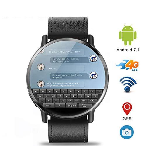 GGOII Intelligente Uhr Lem x 4g LTE SIM smart Watch Telefon Android 7,1 2,03 Zoll Bildschirm 8mp Kamera 900 mah Batterie GPS smartwatch für männer Frauenschwarz