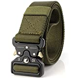 LEADALLWAY Tactical Belt Nylon Webbing Waist Belt ArmyGreen(Waist 36''-42'')