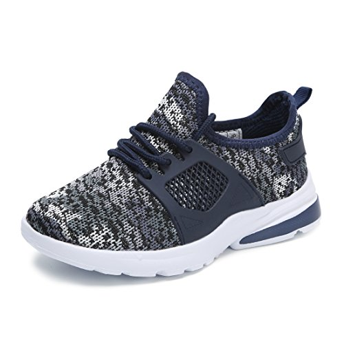 Hawkwell Youth Breathable Camouflage Lace-up Running Shoes(Toddler/Little Kid/Big Kid),Navy Mesh,12 M US Little Kid