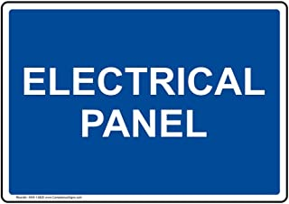 Electrical Panel Label Decal, 7x5 inch Vinyl for Electrical by ComplianceSigns