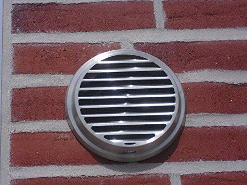 VentilationNord weerbestendig rooster muurkast buitenrooster NW150 roestvrij staal afzuigkap WSRLE150