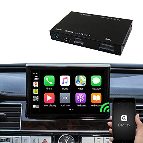 Carlinkit Carplay Car Airplay Android Auto Carplay Box Interface for Audi A8 2012-2018 Factory Screen Upgrade with Android Auto iOS12 (Support Google&Waze Map&Mirroring)