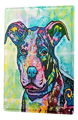 LEotiE SINCE 2004 Plaque en Métal Métallique Poster Mural tin Sign Race Chien coloré