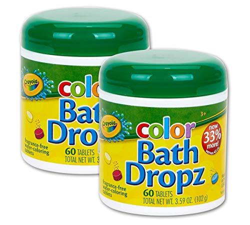 Crayola Bath Dropz 3.59 Ounces 60 Tablets (Pack of 2)