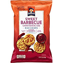 Quaker Rice Crisps, Sweet Barbecue, 3.03 oz Bag (Packaging May Vary)