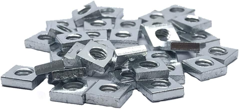 200pcs M4 Square Nut Metric Recommendation Thread outlet Zinc Plated Coarse Silv