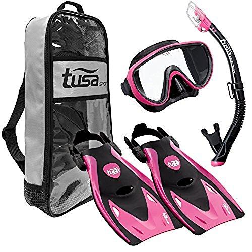 TUSA Sport Serene Maske Serie Travel Schwimmen Set, schwarz/pink