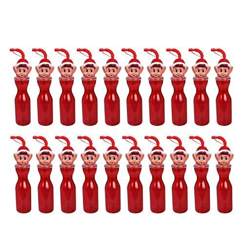 Guaranteed4Less Naughty Elf Drinking Bottle Straw Kids Xmas Christmas Eve Box Novelty Tree Gift (20)