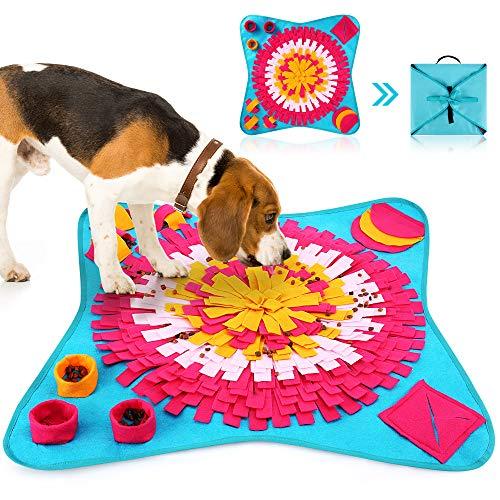 HezzLuv Schnüffelteppich Hunde Intelligenz Hundespielzeug Interaktives Spielzeug Für Hunde Schnüffelteppich Intelligenzspielzeug Für Hunde, Waschbar Faltbar, Für Geruchstraining Und Langsames Essen