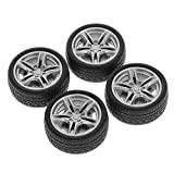 FXCO 4 Stück 48mm Reifenstopfen Reifen Simulation Gummirad Reifenrad Spielzeug Modell DIY RC Ersatzteile
