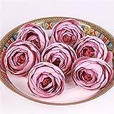 Flores Artificial 11 Unids/Lote De Seda Pequeños Capullos De Rosa Cabezas De Flores Artificiales Boda Accesorios De Bricolaje Decoración para La Decoración del Hogar Lightpink