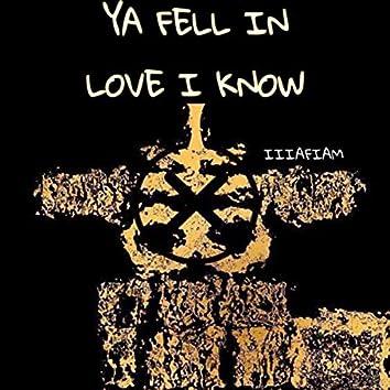 YA FELL IN LOVE I KNOW