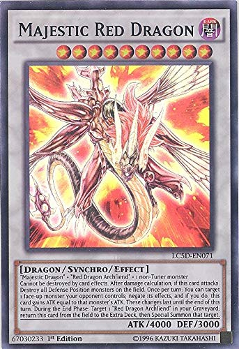 Yu-Gi-Oh! - Majestic Red Dragon (LC5D-EN071) - Legendary Collection 5D's Mega Pack - 1st Edition - Super Rare by Yu-Gi-Oh!