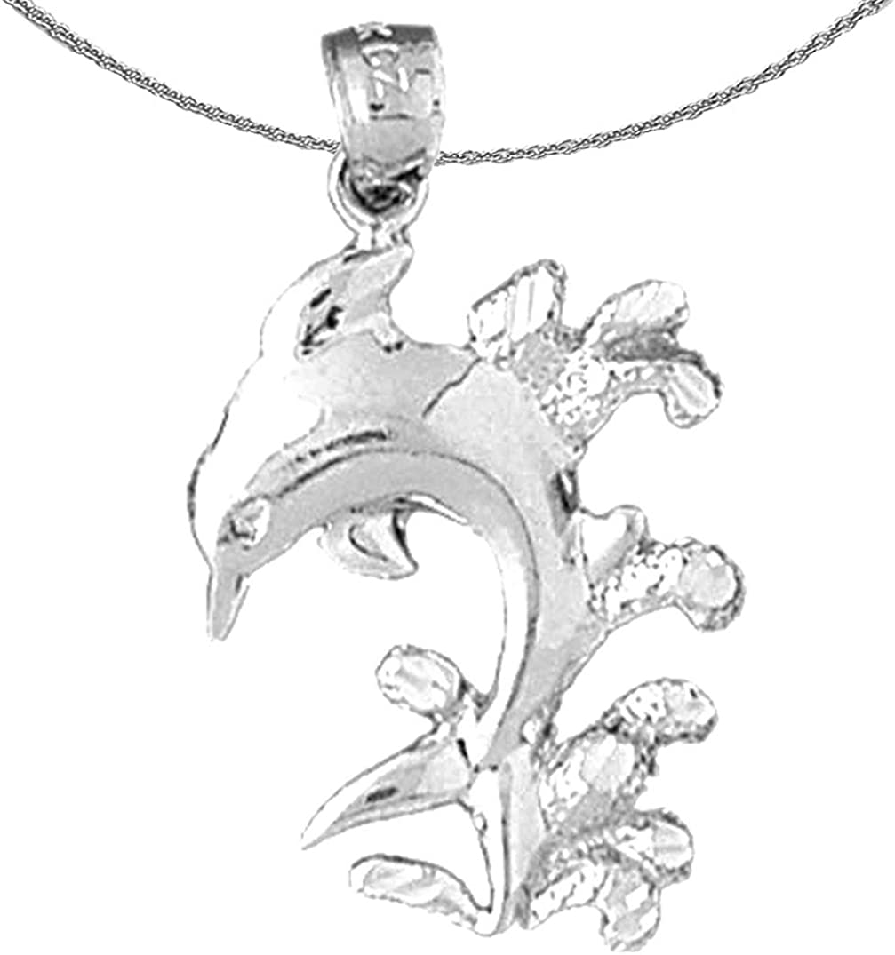 Jewels Obsession Silver Free Shipping New Dolphin favorite With Necklace Coral Rhodium-pl