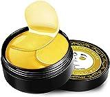 Diealles Shine Augenmaske Pads, Eye Patches Gold 24K, 60PCS Augen Patches Feuchtigkeit für Augenpflege
