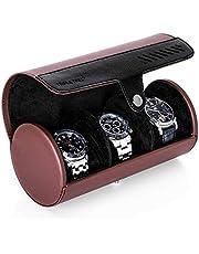 腕時計ケース 3本 腕時計収納ケース 腕時計収納ボックス ウォッチケース コレクション旅行時計ボックス 男女兼用 収納 プレゼント 携帯用