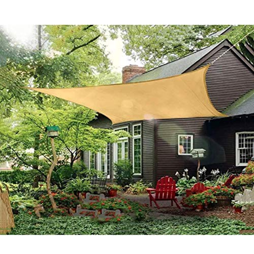 MrRong Shade Sail Rectangle 2M X 3M,for Windows, Balcony Fences Indoor Sun Rooms Sun Shade Sail Canopy 90% UV Block,Cream Color