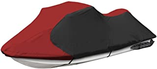 Jetpro Trailerable PWC Watercraft Jet Ski Cover Burgundy/Black Fits from 126-135(3 Seater)