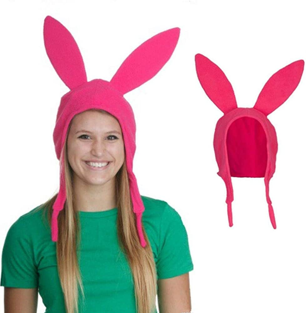 Bob's Fort Worth Mall Burgers Louise Cosplay Bunny Ears Discount mail order Pink Hat