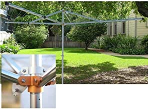 Breezecatcher HD4-270 230ft Top-Spinner Rotary 4-Arm Clothesline Dryer