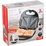 Piastra Per Sandwich Toast 2 Posti 750W Con Piastra In Acciaio Antiaderente Dunlop