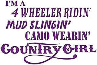 Camo Wearin Country Girl Decal Sticker - Peel and Stick Sticker Graphic - - Auto, Wall, Laptop, Cell, Truck Sticker for Windows, Cars, Trucks