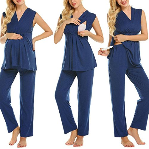 Aimado Nursing Cotton Pajamas