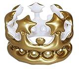 NPW W13641 aufblasbarer Krone Foto Booth Selfie Requisit-Königin-des-Tages Maskenkostüm, Gold, One...