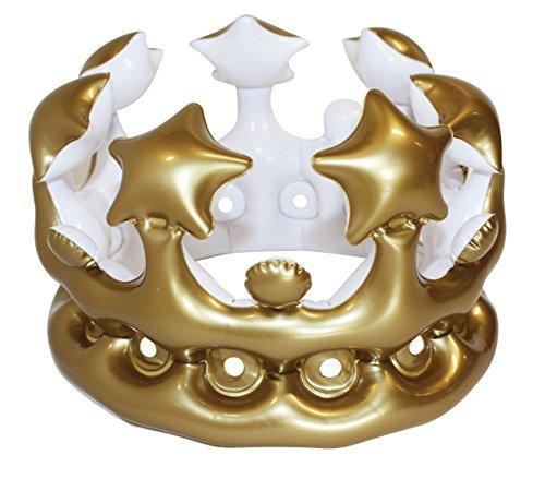 NPW W13641 aufblasbarer Krone Foto Booth Selfie Requisit-Königin-des-Tages Maskenkostüm, Gold, One Size