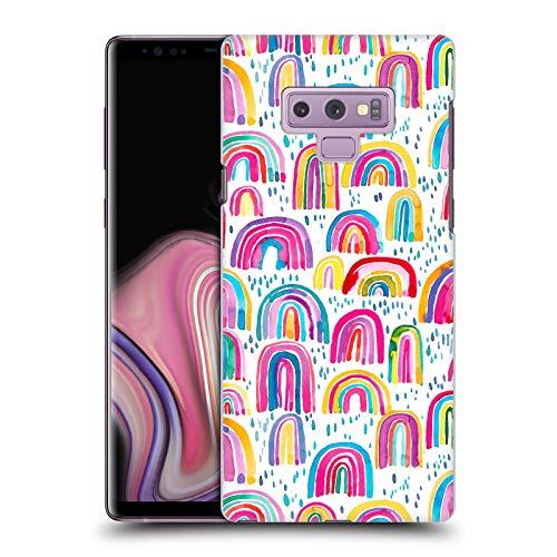 Head Case Designs Offizielle Ninola Suesse Wasserfarben Regenbogen Muster 3 Harte Rueckseiten Handyhulle Hulle Huelle kompatibel mit Samsung Galaxy Note9 Note 9