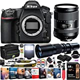 Nikon D850 45.7MP Full-Frame FX-Format Digital SLR Camera Black Body Bundle with Tamron 28-300mm F/3.5-6.3 Di VC PZD Lens, Deco Gear 500mm Telephoto Lens, 64GB Memory Card and Accessories (15 Items)