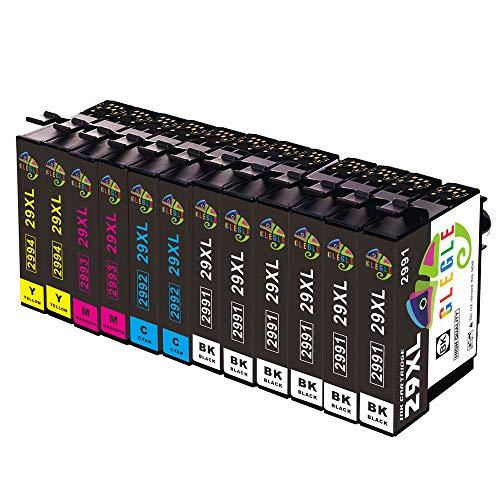 GLEGLE 29 29XL Cartucce d'inchiostro Compatibile con Epson XP-255 XP-245 XP-247 XP-235 XP-352 XP-332 XP-442 XP-342 XP-257 XP-355 XP-452 XP-455 XP-345 XP-445 XP-335 XP-432 XP-435 Confezione da 12