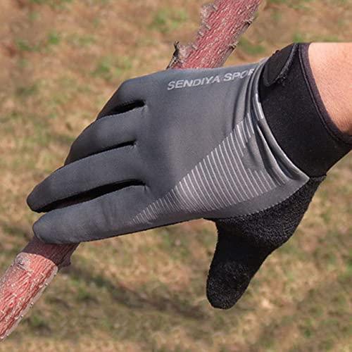 1 par de Guantes de Bicicleta con Pantalla táctil para Dedos completos,Guantes de MTB paraHombres y Mujeres,Mitones de Verano Transpirables-grey-3-XL