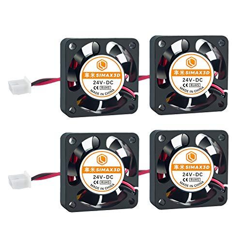ILS - Ventilador de refrigeración (4 unidades, 24 V, 0,08 A, 4010, 40 x 40 mm, con cable de 1 m)
