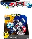 Figuras de cinturón de pokeball Pokemon Toy Set Squirtle Figure de Acción Juego Poke Ball Modelo Juguetes Cinturón Retráctil Regalos Para Niños Juguetes en caja