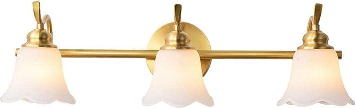 Spiegellamp LED-spiegel Voorlicht Badkamer Messing, Make-upspiegelverlichting Wandlamp Make-uplamp E14 Lichtbron 7W 3 kleu...
