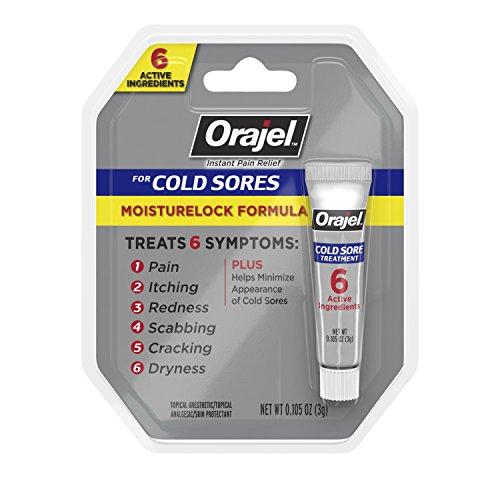 Orajel Moisturelock Cold Sore Symptom Treatment, Cream 0.105 oz
