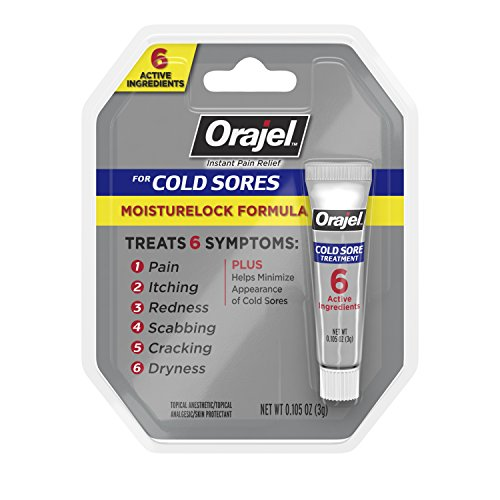Orajel Moisturelock Cold Sore Symptom Treatment, Cream 0.105 oz