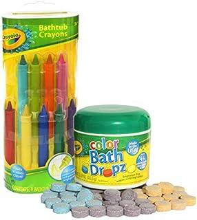 Crayola Bathtub Crayons with Crayola Color Bath Drops 60...