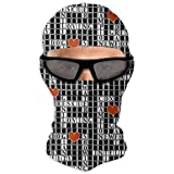 NOT Crossword Puzzle Balaclava Full Face Mask Outdoor Sports Hunting Cycling Motorcycle Ski Face Cover Mask for Men and Women
