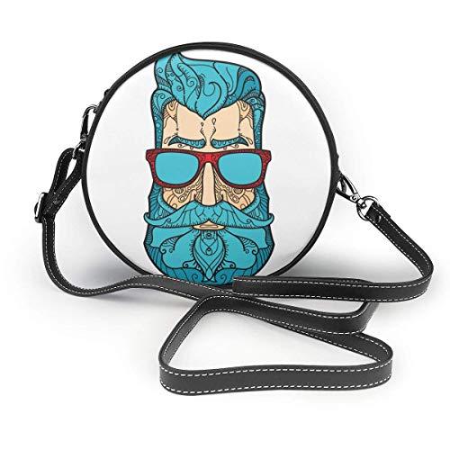 Estilo magnífico pelo verde gafas de sol hombre mujer Slant bag, personalizado solo bolso de hombro bolso de la fecha