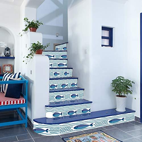 jieGorge Wohnzimmer Deko RäUmungsverkauf, DIY Schritte Aufkleber abnehmbare Treppe Aufkleber Home Decor Keramikfliesen Muster,Wall Sticker für Dekoration Wohnung Modern