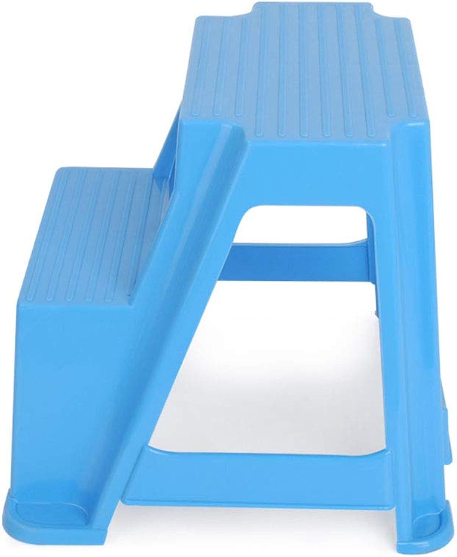 Ladder Stool 2 Step Plastic Non-Slip Bathroom Pedal Stool Thickened Durable
