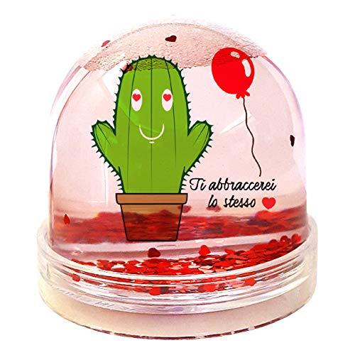 My Custom Style Boules Globes de Neige # San Valentino # 9 x 9 cm Con Cuori Sanvalentino-abbracci