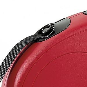 FLEXI New Classic Retractable Dog Leash (Tape), 16 ft, Medium, Red, (Model: CL2MT5.250.R)