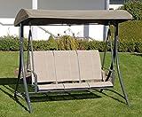 Haberkorn Garten Hollywoodschaukel Ragusa 3 Sitz Schaukel mit Textilbespannung
