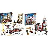 Lego City Fire Missione Antincendio In Citta, Con 7 Minifigures, Un Edificio, Un Camion Dei Pompieri & City Fire Caserma Dei Pompieri Su 3 Livelli Con 4 Minifigures Mattoncini Sonori E Luminosi