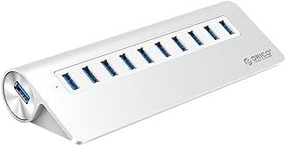 ORICO USB Hub,10-Port USB 3.0 Triangle Aluminum Alloy Hub Splitter - Perfect for MacBook, Mac Pro, iMac, Notebook, PC - Si...