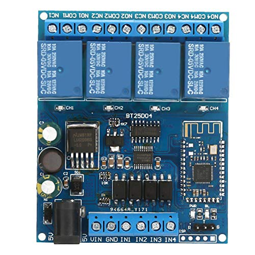 4 Kanäle Dual Power Supply Control Drahtloses Telefonrelaismodul Kompatibel mit dem CC2541 Bluetooth 4.0-Chip für das Telefonrelais